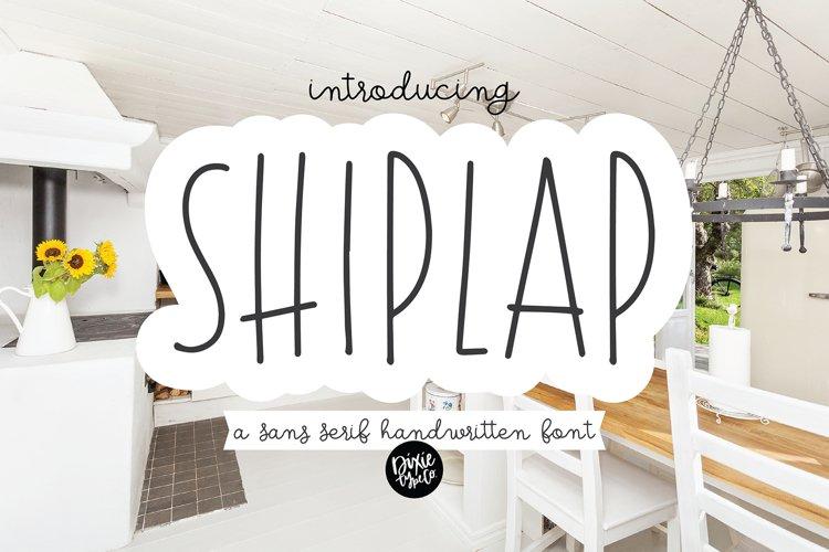 SHIPLAP a Sans Serif Farmhouse Font example image 1