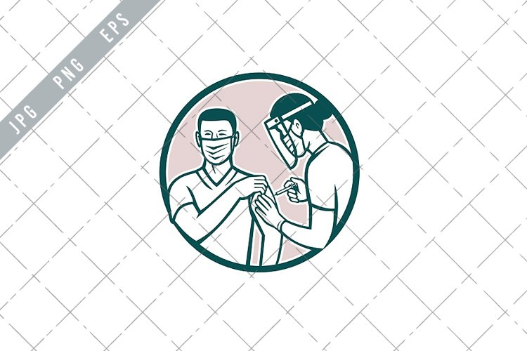 Frontline Worker Vaccinated with Covid-19 Vaccine EPS example image 1