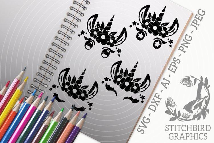 Unicorn Eyelashes 2 Bundle SVG, Silhouette Studio, Cricut example image 1