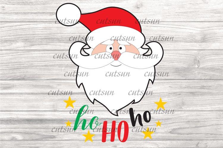 Christmas SVG | Santa face SVG | Santa clipart | Hohoho SVG