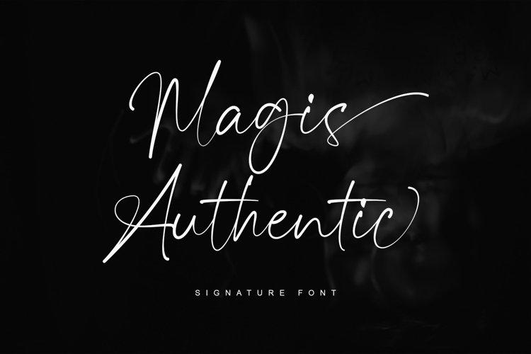 Magis Authentic - Signature Font example image 1