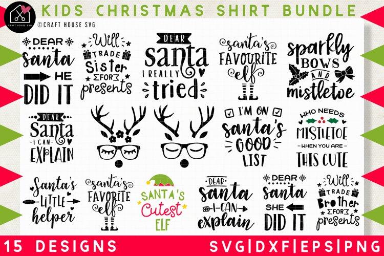 Kids Christmas shirt SVG Bundle | SVG DXF EPS PNG MB37 example image 1