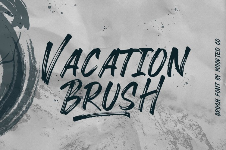Vacation Brush Font example image 1