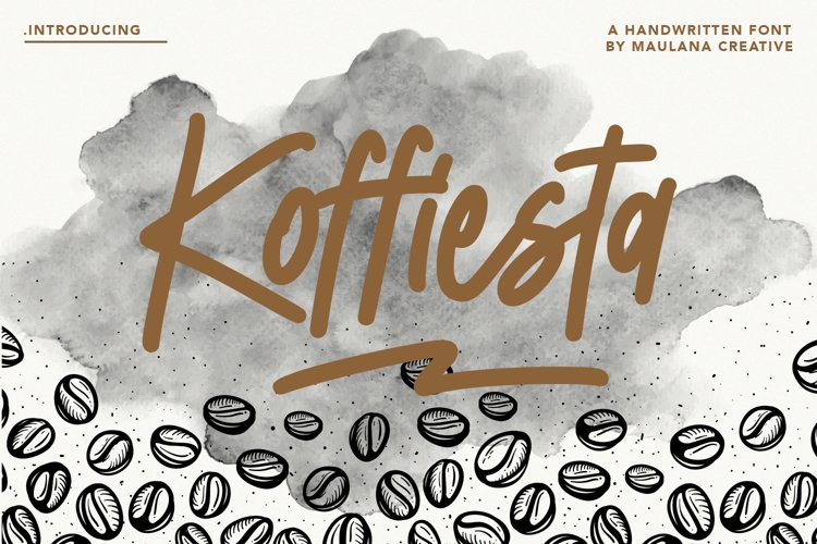 Koffiesta Handwritten Font example image 1