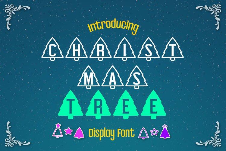 Christmas Tree Display font example image 1