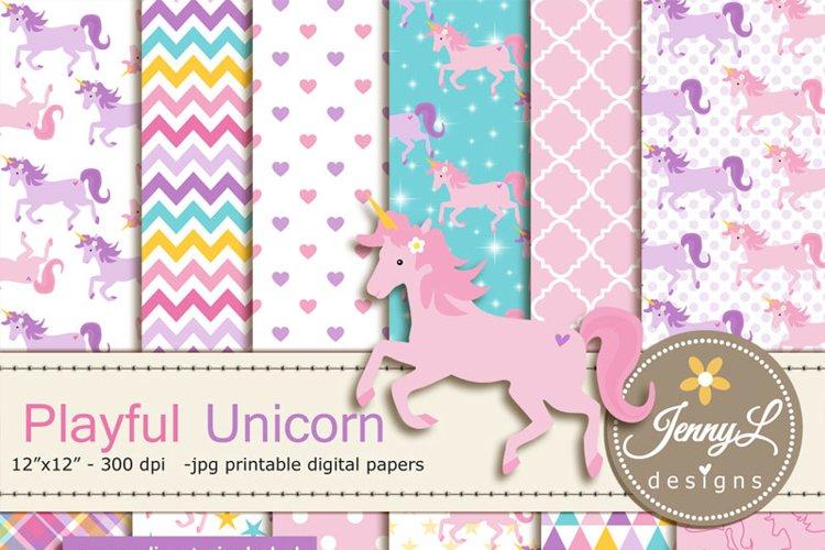 Unicorn Digital Papers and Unicorn Clipart SET
