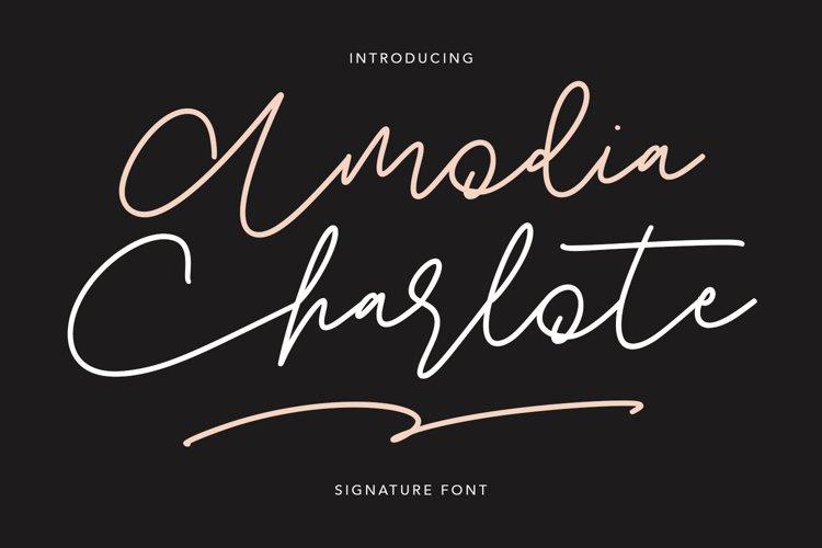 Amodia Charlote Signature Font example image 1
