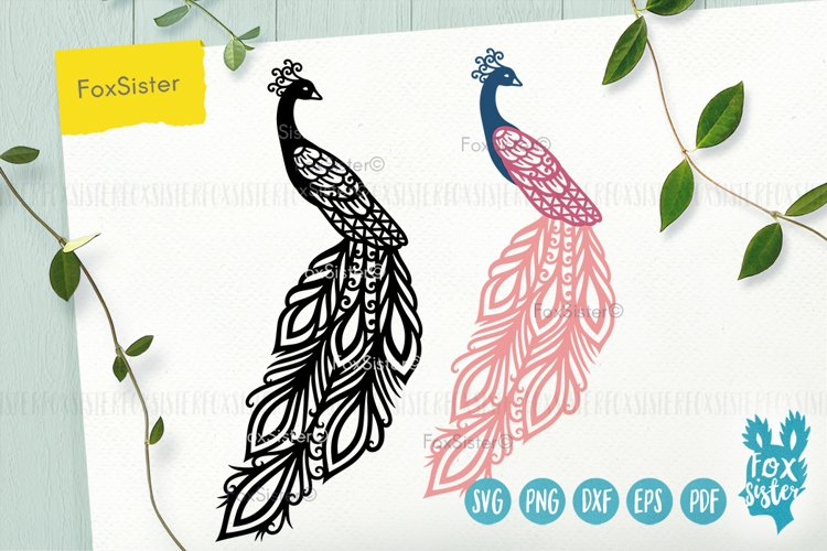 Peacock Svg, Peacock bird cut file, Png, Dxf, Eps, Clipart
