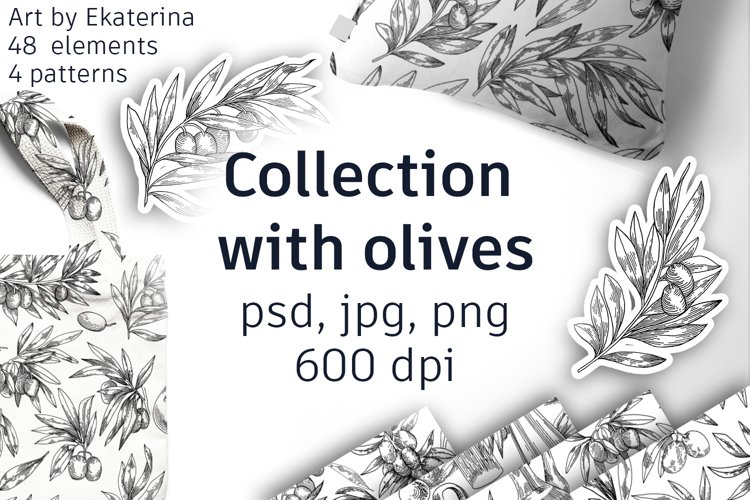 Collection with olives