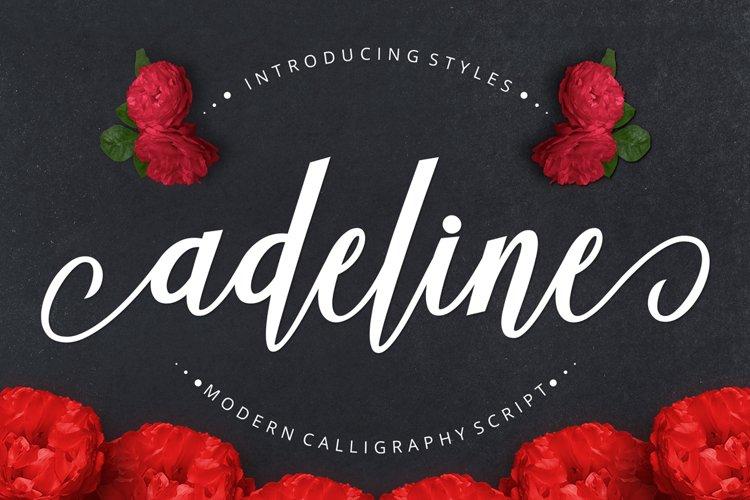 Adeline Script example image 1