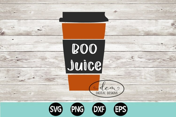 Boo Juice coffee cup Fall SVG PNG DXF EP example image 1