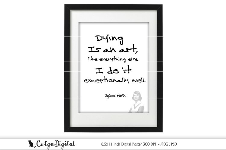 Sylvia Plath Digital Poster Lady Lazarus Printable Poster