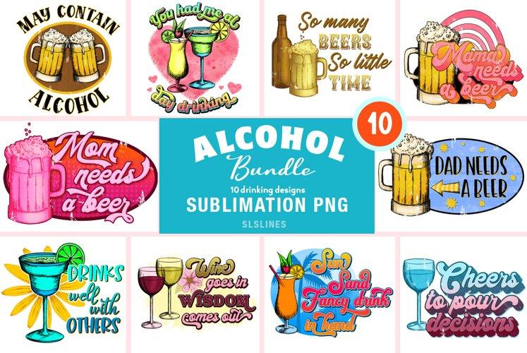 Alcohol Drinkers BUNDLE - Beer & Wine Sublimation Designs