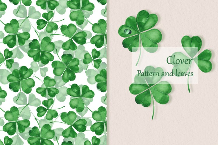 Clover. Watercolor set example image 1