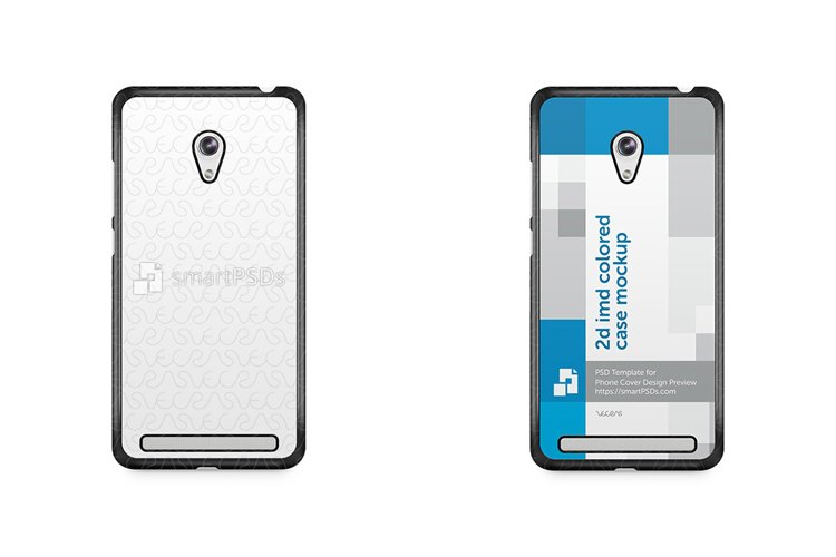 ASUS Zenfone 6 2d IMD Colored Mobile Case Mockup 2014 example image 1