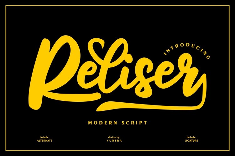 Reliser   Modern Script example image 1