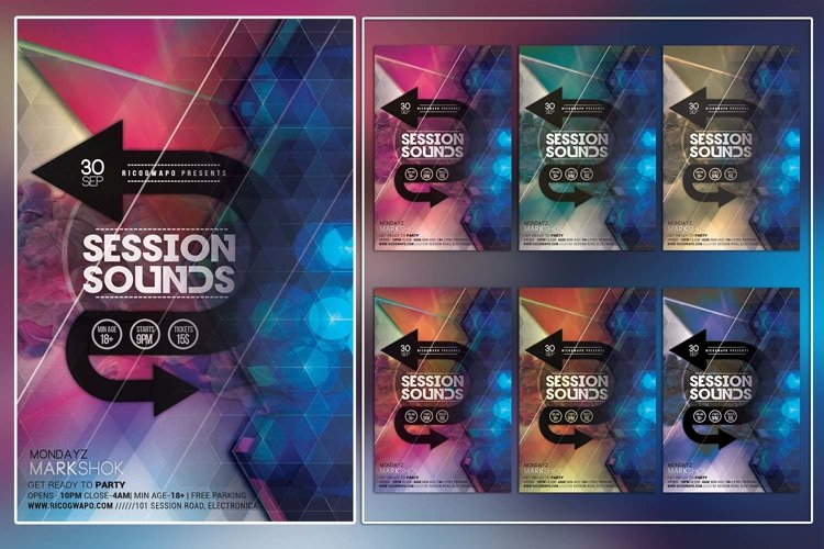 Session Sounds Flyer Template