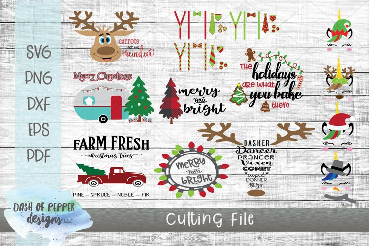 2018 Christmas Bundle - 12 SVG Designs example image 1