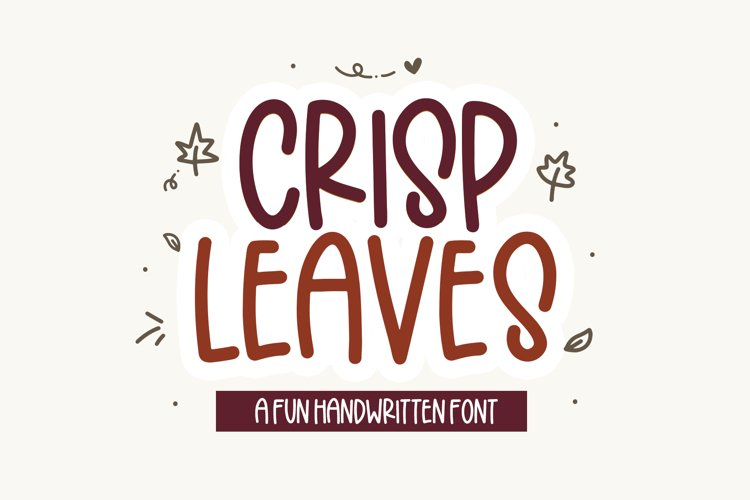 Crisp Leaves - A Quirky Font with Fall Doodles! example image 1