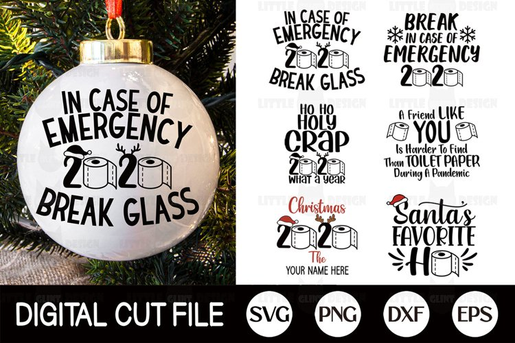 2020, Christmas Ornament SVG Bundle, Toilet Paper PNG, COVID example image 1