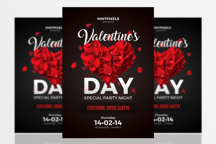 Valentine's Day Party A5 Flyer Template example image 1