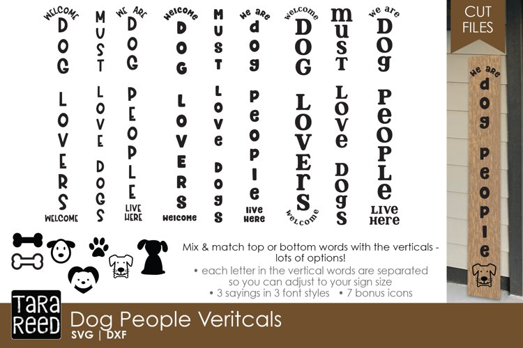 Dog People Vertical Signs - Dog SVG & Cut Files