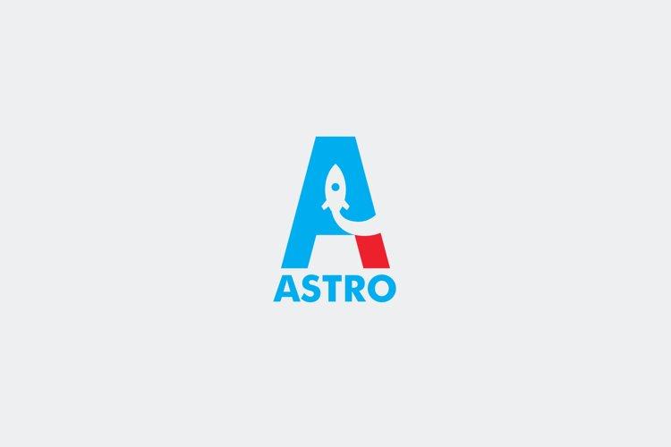 Astro Letter A Logo Template