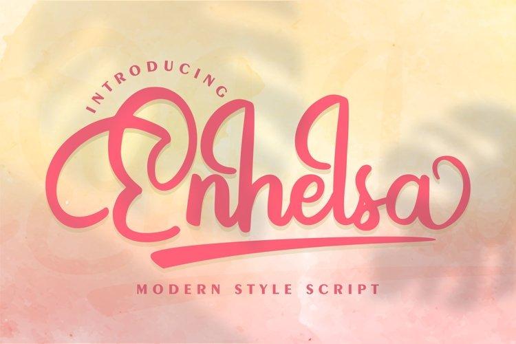 Enhelsa | Modern Style Script example image 1