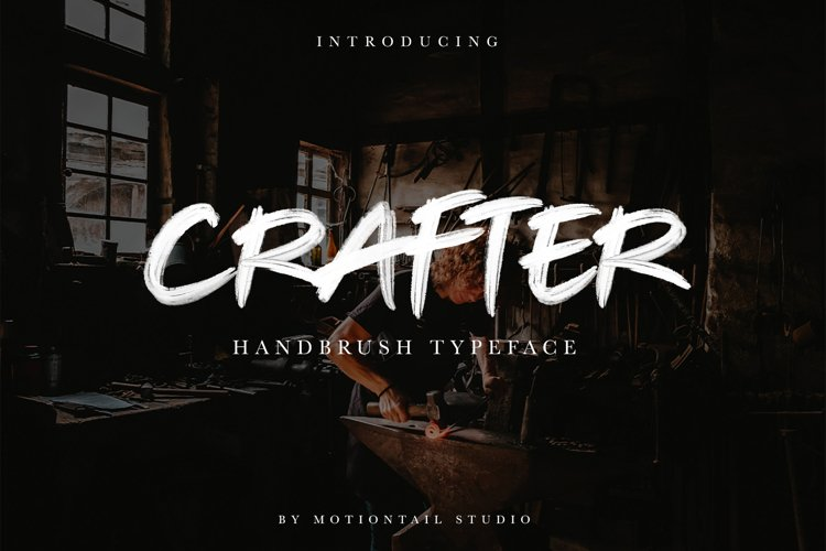 Crafter Handbrush Typeface example image 1