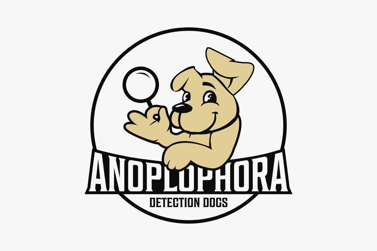 Dog search logo design premium example image 1