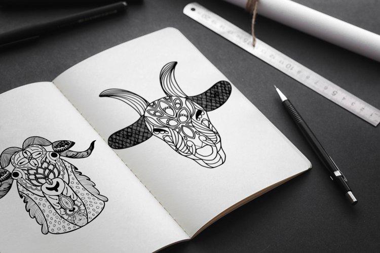 Goat Mandala Coloring Pages