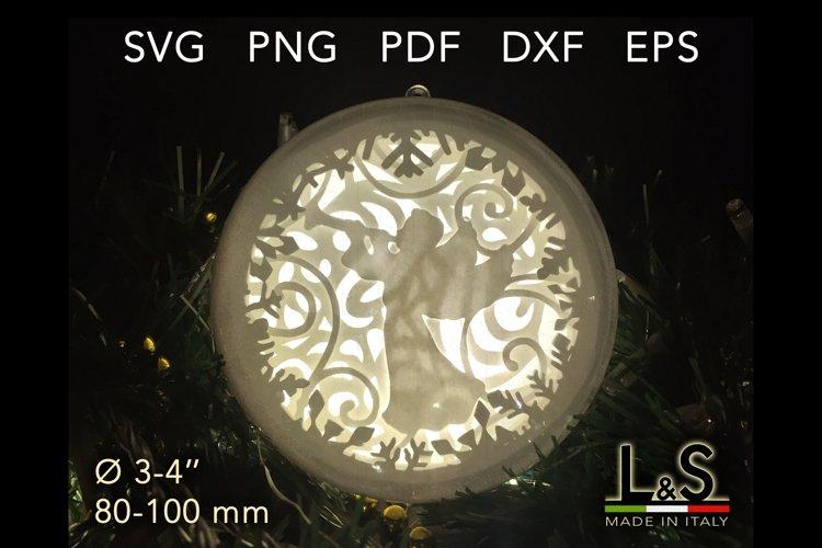 3D angel layered Christmas ornament