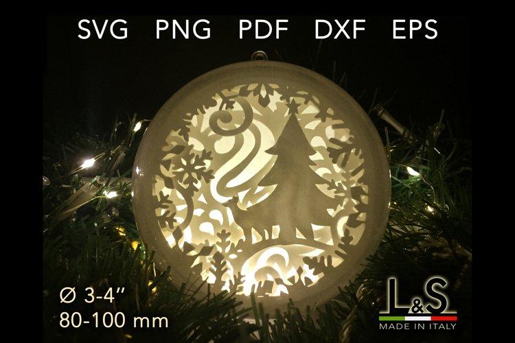 3D layered Christmas ornament light box