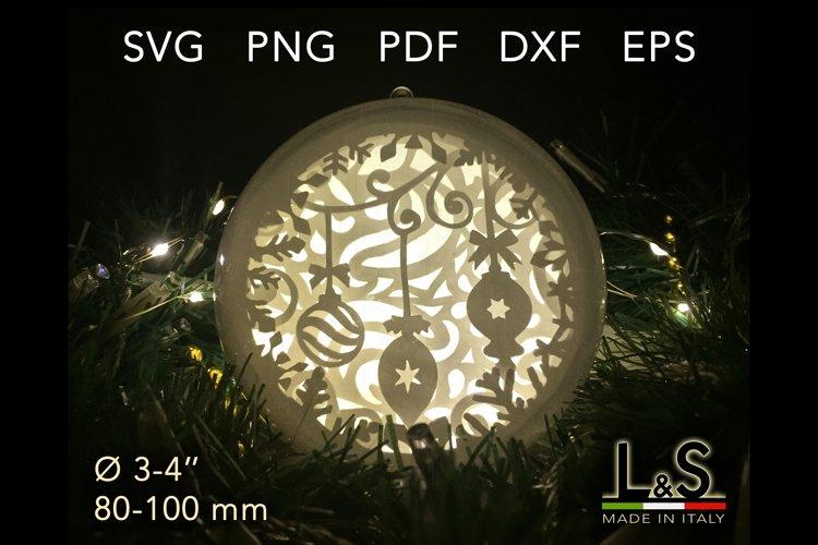 Lighted Christmas ornament