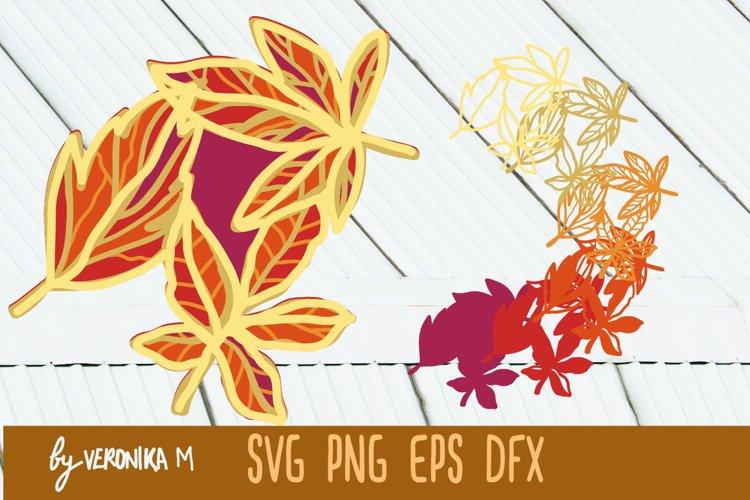 3d layered mandala leaves SVG, 7 layeres