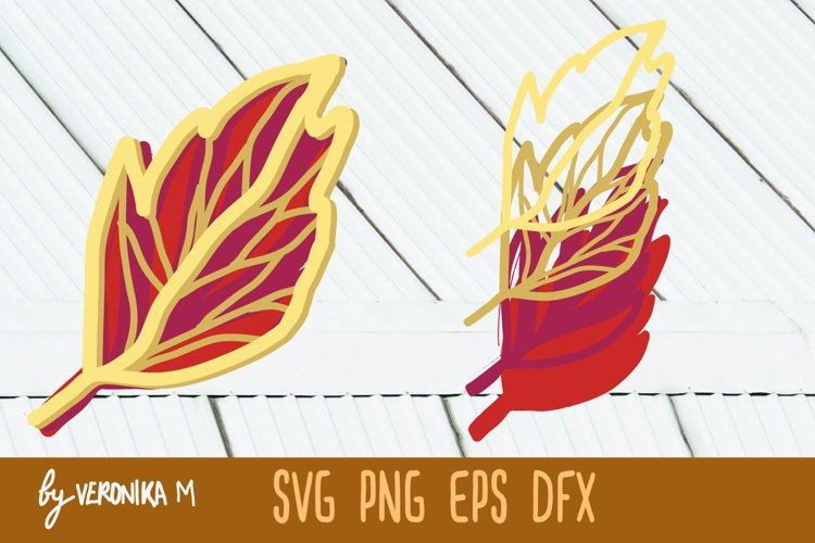 3d layered colorful bright leaf SVG