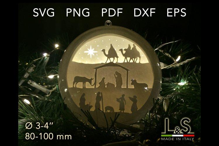 3D Layered Nativity Christmas Ornament