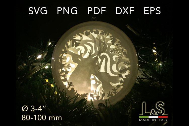3D layered reindeer Christmas ornament