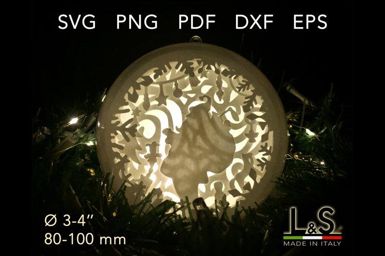 3D layered Santa Claus Christmas ornament