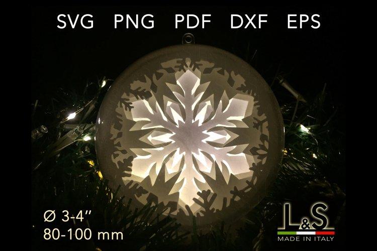3D Layered snowflake Christmas ornament