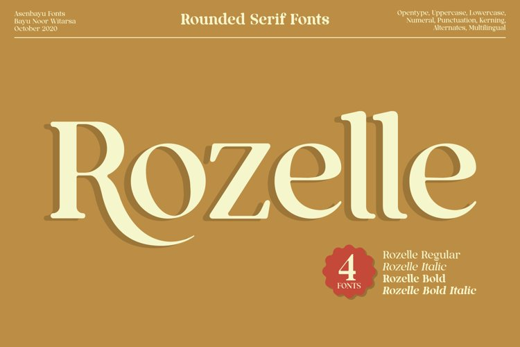 Rozelle Fonts example image 1