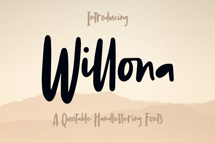 Web Font Willona - Quotable Handlettering Font
