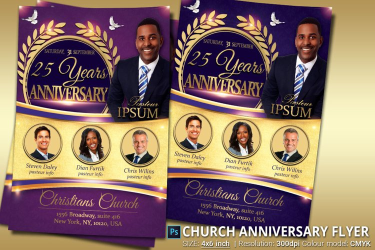 Church Anniversary Flyer example image 1
