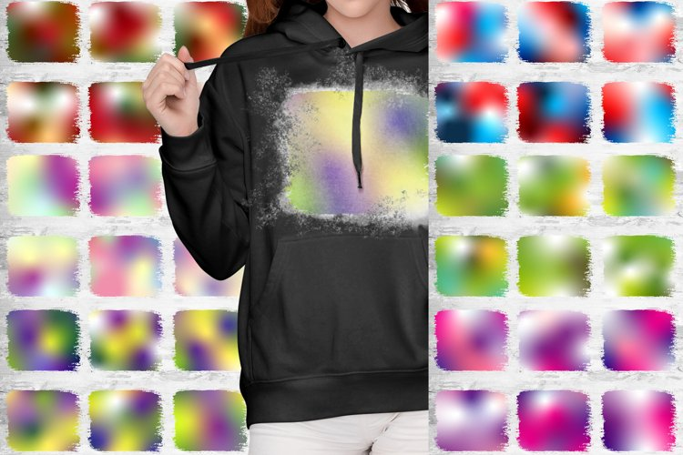 Holiday Bundle Ombre Bleach Background Designs Sublimation