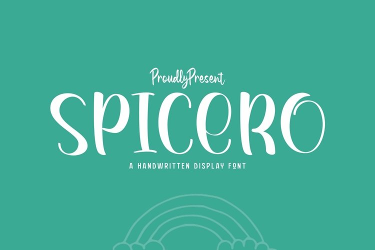 Web Font Spicero example image 1