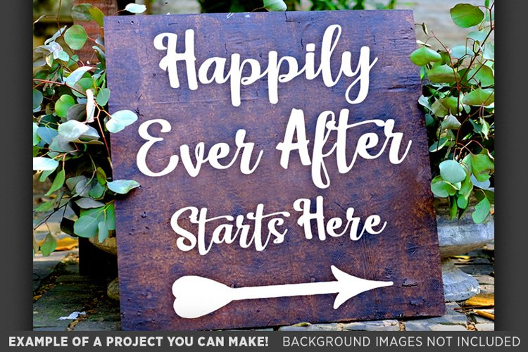 Happily Ever After Starts Here SVG File Wedding Sign - 5520 example image 1