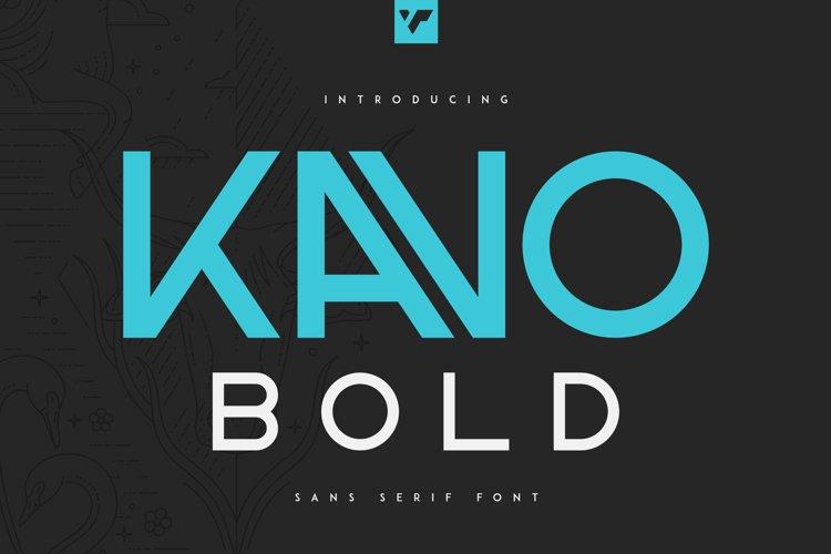 Kavo Sans Serif Bold example image 1