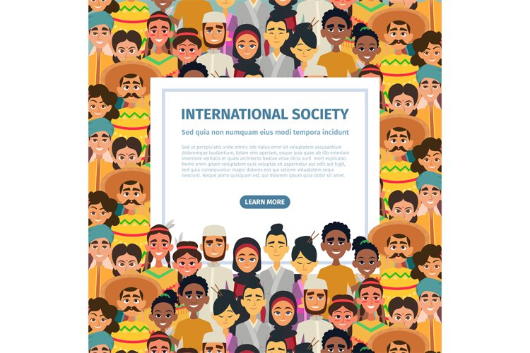 International community with different multicultural peoples example image 1