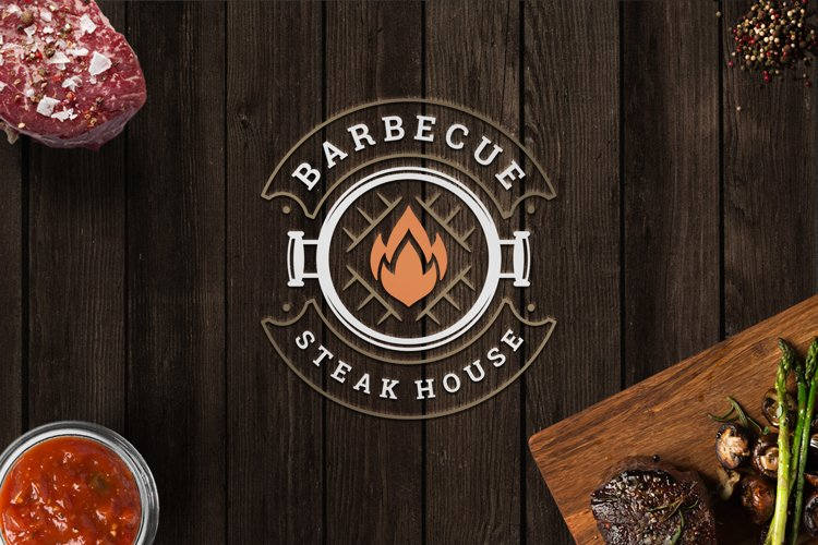Barbecue Grill Logo Template example image 1