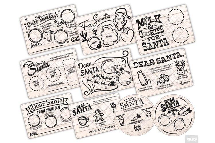 Santa Tray SVG Bundle Christmas with PNG, DXF, EPS, JPG example image 1